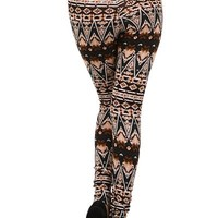 Delicious Tribal High Waist Sweater Leggings - Leggings Superstore