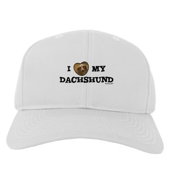 I Heart My Dachshund Adult Baseball Cap Hat by TooLoud