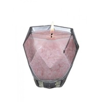 Rose Quartz Jewel Glass Candle Set