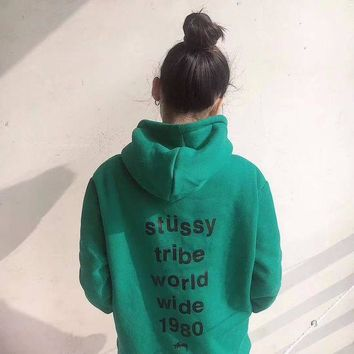 STUSSY Women Fashion Casual Hoodie Top Sweater Pullover