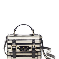 Kate Spade Kids' Patent Leather Scout Cross Body Black/Cream Stripe