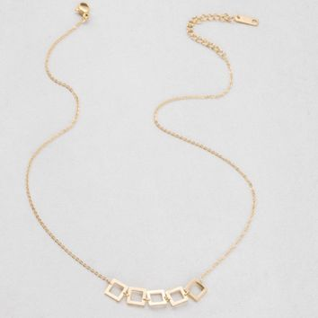 Squared Away 14K Necklace