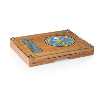 Denver Nuggets - 'Concerto' Glass Top Cheese Board & Tools Set by Picnic Time