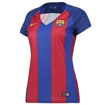 CREYON 2016-2017 Barcelona Home Nike Ladies Shirt