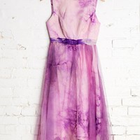 Vintage Lilac Love Tulle Dress - Urban Outfitters