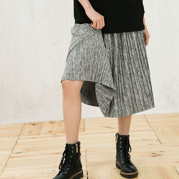 Pleated skirt with elastic waist - Skirts - Bershka Germany