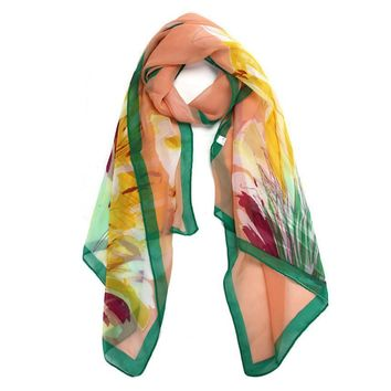 JECKSION 2016 woman scarf Chiffon Daffodils Women Scarf Shawl Scarf Scarves Wrap Stole Warm for #LYW