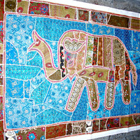 elephant wall hanging elephant wall art wall decor Indian wall hanging elephant tapestry indian table runner elephant wall decal poster