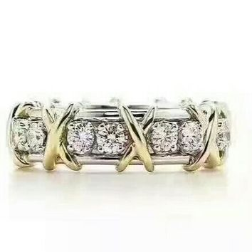 Fashion Tiffany Women Ring Noble High 2018 New Serpenti ring AAAA diamond drill hollowed out 18 K gold
