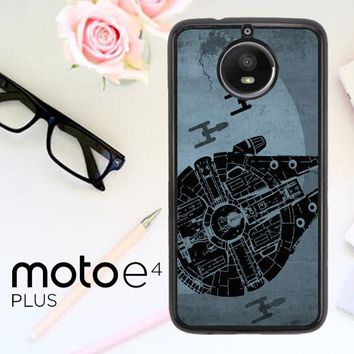 Star Wars Millenium Falcon Blue L1693 Motorola Moto E4 Plus Case