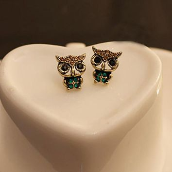 Ancient Owl Stud Earrings