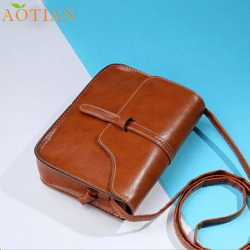 Fashion Hot New Vintage Purse Bag Leather Cross Body Shoulder Messenger Bag drop ship  17Mar20