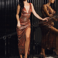 Penthouse View Sequin Maxi Dress
