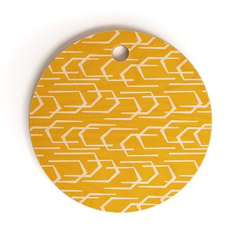 Heather Dutton Going Places Sunkissed Cutting Board Round