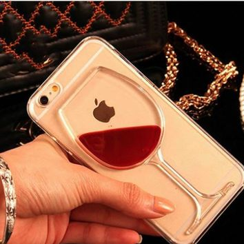 3D Wine Glass  iPhone Case Cover