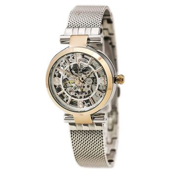 Kenneth Cole KC4944 Women's Automatic Silver Skeleton Dial Steel Mesh Bracelet Watch
