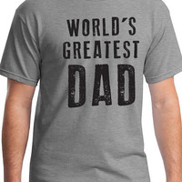 Fathers Day Gift Dad Gift Worlds Greatest DAD Mens T shirt for New Dad Husband Gift Awesome Dad Funny T-shirt