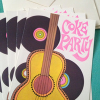 1960s Vintage COKE PARTY Invitations 10 Count