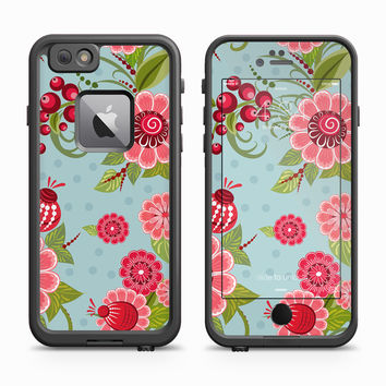 Lady Bug Red Flower Petal Skin for the Apple iPhone LifeProof Fre Case