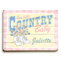 Personalized Country Baby Wood Sign