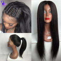 8A Straight Full Lace For Black Women Brazilian Virgin Hair Full Lace Wigs