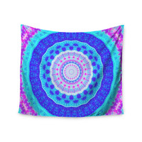 "Iris Lehnhardt ""Summer Colors"" Pink Blue Wall Tapestry"