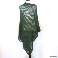 Green Fishnet Poncho, Extra Large Green Poncho
