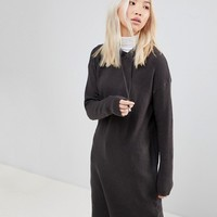 b.Young Knitted Hoodie Dress at asos.com