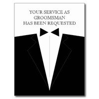 Best Man or Groomsman Postcard Invite