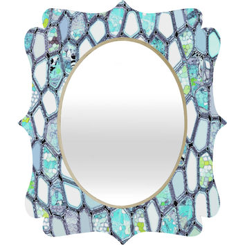 Ingrid Padilla Blue Cells Quatrefoil Mirror