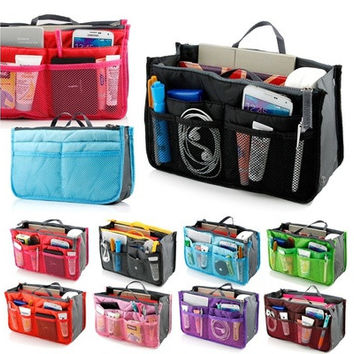 Travel Bag Purse Tidy Large Liner Organizer Women Travel Insert Handbag 16 Color  [10198320263]