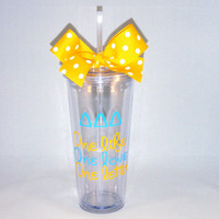 Tri Delta One Life, One Love, One Letter 20 oz.Tumbler