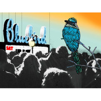 Bluebird - Denver Bluebird Theater Illustration Fridge Magnet