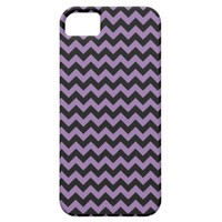 Bellflower Violet And Black Zigzag Chevron iPhone 5 Cover from Zazzle.com