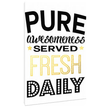 Pure Awesome Canvas - Typography - Office art Home Decor - Wall Art Print Poster - Bold - Motivational Art Quotes - make money - be awesome