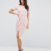ASOS Double Layer Textured Wiggle Dress at asos.com