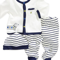 Little Me Baby Set, Baby Boys Dachshund 3-Piece Hat, Cardigan and Pants - Kids Baby Boy (0-24 months) - Macy's
