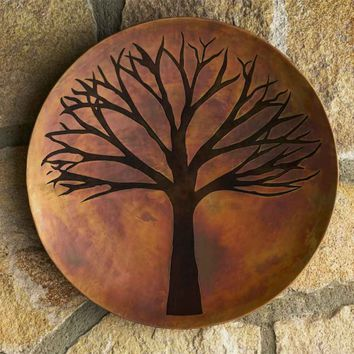 Copper Finish Tree of Life Wall Art