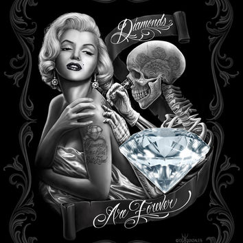Marilyn Monroe Diamonds Are Forever Queen Blanket DGA - Free Shipping in the Continental US!