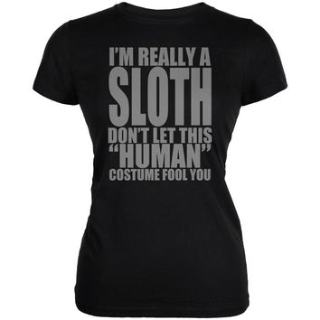 Halloween Human Sloth Costume Juniors Soft T Shirt