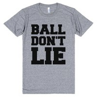 Ball Don't Lie-Unisex Athletic Grey T-Shirt