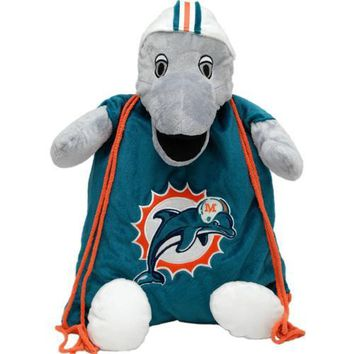 Miami Dolphins NFL Plush Mascot Backpack Pal