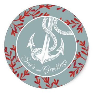 Sea's and Greetings Sticker - Anchor