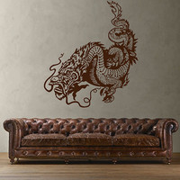kik1597 Wall Decal Sticker Dragon mythical animal living bedroom teens