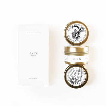 CALM Gold Travel Candle Set