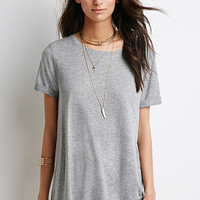 Cuffed-Sleeve Boxy Top