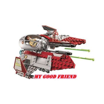 Star Wars Force Episode 1 2 3 4 5 Legoings  Obi-Wan's Jedi Interceptor Revenge of the Sith Block Set Droid Compatible with 75135  Toy AT_72_6