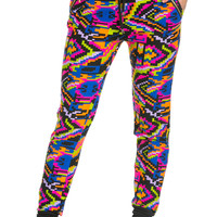 Pixel Patterns Jogger Pants Multi