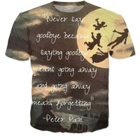 Peter Pan quote T-shirt