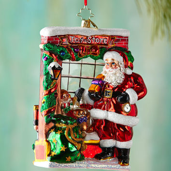 Window Shopper Christmas Ornament - Christopher Radko